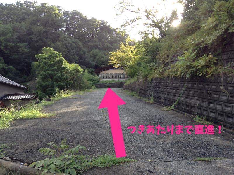 愛染寺へ登る