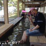 【七尾市和倉温泉 / 足湯】石川県内の足湯でNo.1の景色!「湯っ足りパーク妻恋舟の湯」